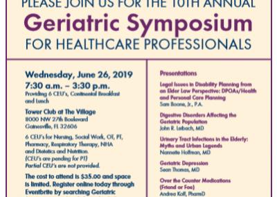 2019 Geriatric Symposium for Healthcare Professionals