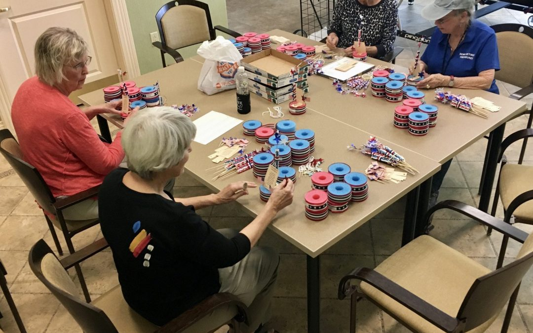 Made in the USA: Terraces' Artists & Crafters Create Special July 4th Gifts for Assisted Living Residents